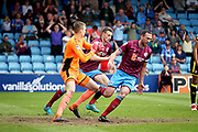 Scunthorpe United's Matt Gilks(1) catches the ball during the EFL Sky Bet League 1 match between Scunthorpe United and Rotherham United at Glanford Park, Scunthorpe, England on 12 May 2018. Picture by Nigel Cole.