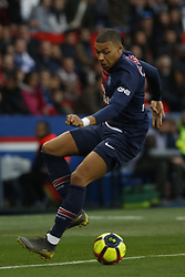 February 23, 2019 - Paris, France - Kylian Mbappe during the French L1 football match between Paris Saint-Germain and Nimes at the Parc de Princes in Paris on 23 February 2019. (Credit Image: © Mehdi Taamallah/NurPhoto via ZUMA Press)