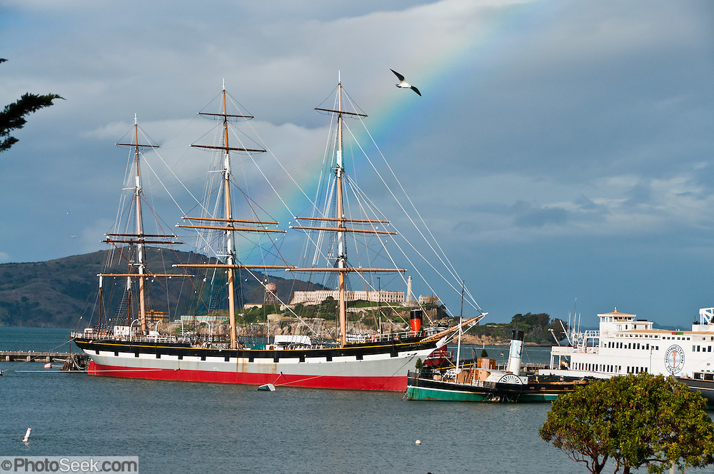 The Sailing Ship Balclutha (also known as Star of Alaska, or Pacific Queen) is a steel-hulled square rigged ship that was built in 1886, and is now a  National Historic Landmark moored at San Francisco Maritime National Historical Park, California, USA.