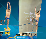 PRYGOROV Oleksiy, KVASHA Illya Ukraine.3 m. synchro springboard.Diving finals.London 2012 Olympics - Olimpiadi Londra 2012.day 06 August 1.Photo G.Scala/Deepbluemedia.eu/Insidefoto