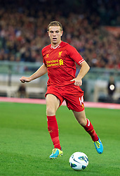 MELBOURNE, AUSTRALIA - Wednesday, July 24, 2013: Liverpool's Jordan Henderson in action against Melbourne Victory during a preseason friendly match at the Melbourne Cricket Ground. (Pic by David Rawcliffe/Propaganda)