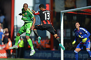 defensive header from Sunderland AFC defender Younes Kaboul during the Barclays Premier League match between Bournemouth and Sunderland at the Goldsands Stadium, Bournemouth, England on 19 September 2015. Photo by Mark Davies.