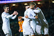 Leeds United midfielder Pablo Hernandez (19) reacts to going 1-0 up during the EFL Sky Bet Championship match between Leeds United and Hull City at Elland Road, Leeds, England on 10 December 2019.