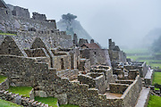 Misty morning at Machu Picchu, Peru.