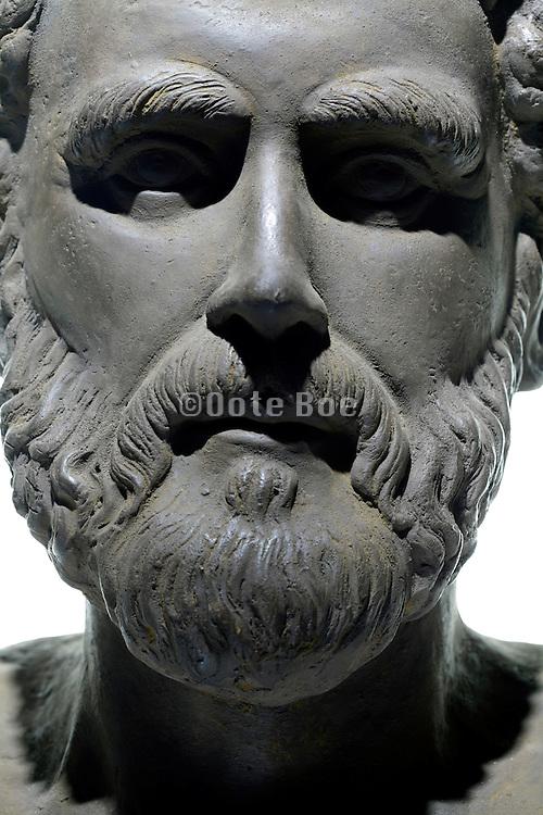 close up Aristotle (384 B.C. -322 B.C.) Greek philosopher