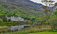 Kylemore Abbey was built in the 1850's by Mitchell Henry, as a private home and gift for his wife Margaret.  In 1920 Benedictine Nuns turned the home into a boarding school for girls from 1923 to 2010.  Kylemore Abbey is located in Connemara in Co. Galway.