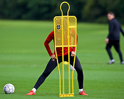 CARDIFF, WALES - Saturday, September 8, 2018: Wales' Ethan Ampadu during a training session at the Vale Resort ahead of the UEFA Nations League Group Stage League B Group 4 match between Denmark and Wales. (Pic by David Rawcliffe/Propaganda)