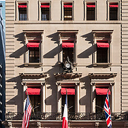 Cartier clock on the Cartier building, Fifth Avenue, New York City.