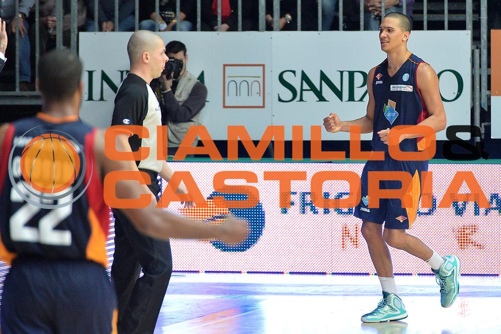 DESCRIZIONE : Cant&ugrave; Lega A 2014-15Acqua Vitasnella Cant&ugrave; Acea Roma<br /> GIOCATORE : Sandri Daniele<br /> CATEGORIA : Esultanza<br /> SQUADRA : Acea Roma<br /> EVENTO : Campionato Lega A 2014-2015<br /> GARA : Acqua Vitasnella Cant&ugrave; Acea Roma<br /> DATA : 11/01/2015<br /> SPORT : Pallacanestro <br /> AUTORE : Agenzia Ciamillo-Castoria/I.Mancini<br /> Galleria : Lega Basket A 2013-2014  <br /> Fotonotizia : Cant&ugrave; Lega A 2013-2014 Acqua Vitasnella Cant&ugrave; Acea Roma<br /> Predefinita :