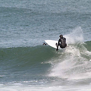Surfing Monahan's Dock. Swell 12' at 11 secs.