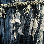 Paper wish charms Kyoto Temple , Japan ,<br /> Buddhist Temple,