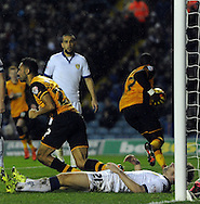 Ahmed Elmohamady of Hull City celebrates his goal during the Sky Bet Championship match at Elland Road, Leeds<br /> Picture by Graham Crowther/Focus Images Ltd +44 7763 140036<br /> 05/12/2015