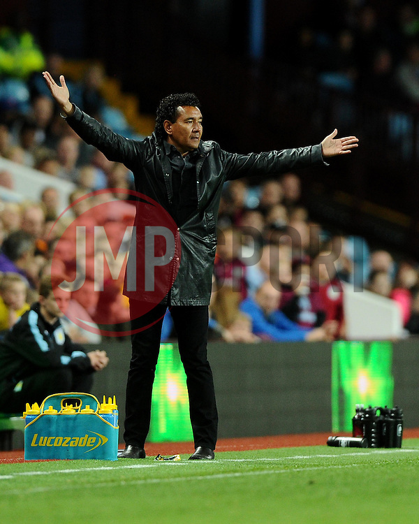 Notts County Manager Ricardo Moniz  - Mandatory byline: Joe Meredith/JMP - 07966386802 - 25/08/2015 - FOOTBALL - Villa Park -Birmingham,England - Aston Villa v Notts County - Capital One Cup - Second Round
