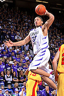 Kansas State University -- Forward Michael Beasley (30) of the Kansas State Wildcats drives to the basket in the second half of the Wildcats 82-57 win over the Iowa State Cyclones during an NCAA basketball game at Bramlage Coliseum in Manhattan, Kansas.