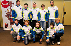 Cross country ski team during press conference of Special olympic team of Slovenia before departure to Special Olympics PyeongChang 2013 in South Korea on January 24, 2013 in Hotel Mons, Ljubljana, Slovenia. (Photo by Vid Ponikvar / Sportida.com)
