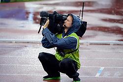 30.08.2012, Stadion Letzigrund, Zuerich, SUI, Leichtathletik, Weltklasse Zurich 2012, im Bild, Feature SF Kameramann // during Athletics World Class Zurich 2012 at Letzigrund Stadium, Zurich, Switzerland on 2012/08/30. EXPA Pictures © 2012, PhotoCredit: EXPA/ Freshfocus/ Andy Mueller..***** ATTENTION - for AUT, SLO, CRO, SRB, BIH only *****