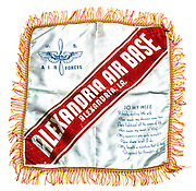 Pillow cases collected by SSG. Harvey Brundage from various bases during his Army Air Corps tour in WWII.