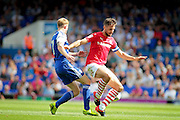 Barnsley midfielder and Captain Conor Hourihane during the EFL Sky Bet Championship match between Ipswich Town and Barnsley at Portman Road, Ipswich, England on 6 August 2016. Photo by Nigel Cole.