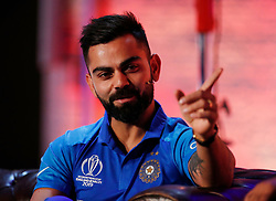 India's Virat Kohli during the Cricket World Cup captain's launch event at The Film Shed, London.