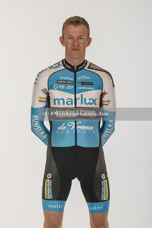BELGIE / BELGIUM / BELGIQUE / OUDENAARDE / OFFICIAL PHOTO SHOOT 2017 - 2018 / MARLUX - NAPOLEON GAMES CYCLING TEAM / CYCLING / CX / CYCLOCROSS / CYCLO-CROSS / VELDRIJDEN / <br /> VANTHOURENHOUT DIETER (MARLUX - NAPOLEON GAMES CYCLING TEAM) /