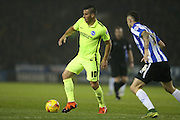 Brighton striker, Tomer Hemed (10) during the Sky Bet Championship match between Sheffield Wednesday and Brighton and Hove Albion at Hillsborough, Sheffield, England on 3 November 2015.