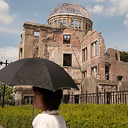 Hiroshima was destroyed by an atomic bombing conducted by the United States during the final stages of World War II in August 1945. Hiroshima Prefectural Industrial Promotion Hall was located only around 160 meters from the hypocenter of the explosion, the building was blown up, and all those inside the building died. However, the building was not destroyed completely because the blast of the atomic bomb, which was vaporized in the air, prevented it from totally collapsing. It was designated a UNESCO World Heritage Site in 1996.Photography by Jose More