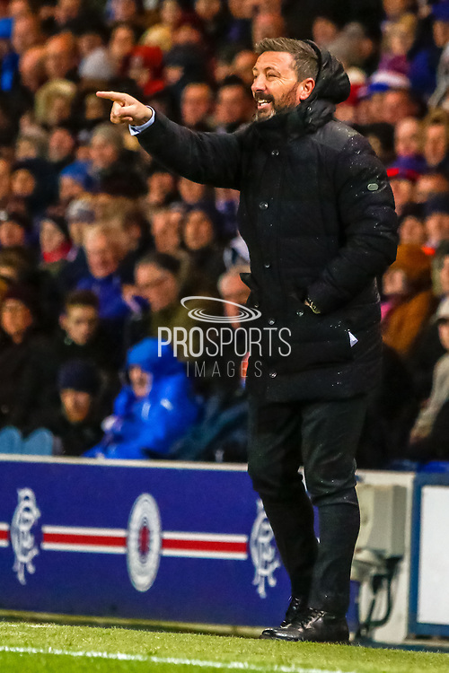 Aberdeen FC Manager Derek McInnes during the William Hill Scottish Cup quarter final replay match between Rangers and Aberdeen at Ibrox, Glasgow, Scotland on 12 March 2019.