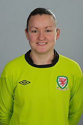 TREFOREST, WALES - Tuesday, February 14, 2011: Wales' goalkeeper Nicola Davies. (Pic by David Rawcliffe/Propaganda)