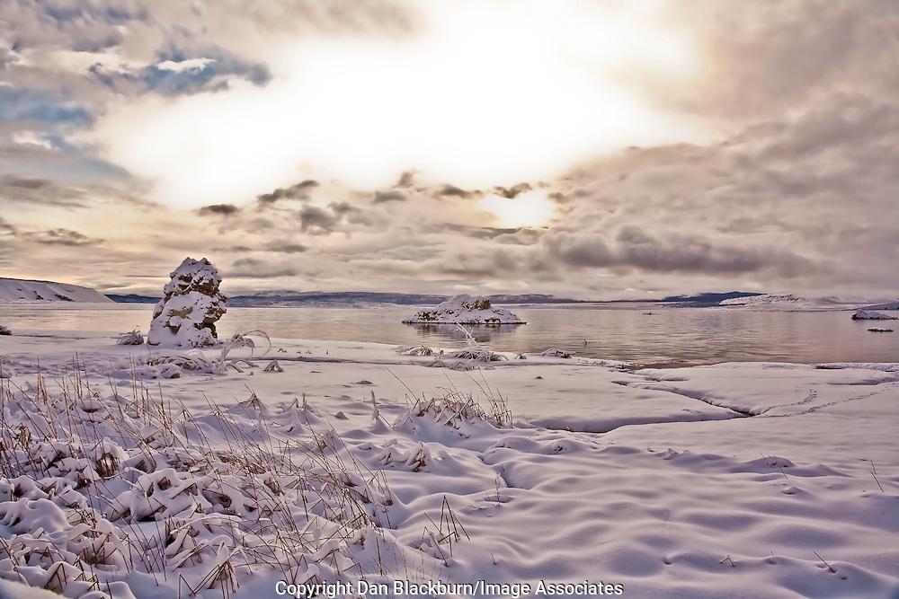 Winter Sunrise at Mono Lake, Eastern Sierra, California