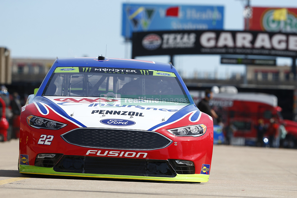 November 2, 2018 - Ft. Worth, Texas, United States of America - Joey Logano (22) takes to the track to practice for the AAA Texas 500 at Texas Motor Speedway in Ft. Worth, Texas. (Credit Image: © Justin R. Noe Asp Inc/ASP via ZUMA Wire)