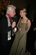SIR ROY STRONG AND LADY ELLA WINDSOR, V and A celebrates 150th anniversary. V and A. London. 26 June 2007.  -DO NOT ARCHIVE-© Copyright Photograph by Dafydd Jones. 248 Clapham Rd. London SW9 0PZ. Tel 0207 820 0771. www.dafjones.com.