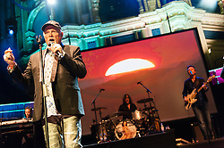 © Licensed to London News Pictures. 30/05/2015. London, UK.   The Beach Boys performing live at Royal Albert Hall.   In this picture - Mike Love.  For this tour the bands line-up is led by original members Mike Love and Bruce Johnston, joined by a touring band consisting of Jeffery Foskett (guitar/vocals), Randell Kirsch (bass/vocals), Tim Bonhomme (Keyboards/vocals), John Cowslip (percussion/vocals) and Scott Totten (guitar/vocals).  Photo credit : Richard Isaac/LNP