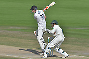 Luke Wells cuts during the Specsavers County Champ Div 2 match between Sussex County Cricket Club and Nottinghamshire County Cricket Club at the 1st Central County Ground, Hove, United Kingdom on 28 September 2017. Photo by Simon Trafford.