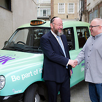 14.10.2014 &copy; Blake Ezra Photography Ltd.<br /> Images of the Shabbat UK Taxi, featuring Chief Rabbi Mirvis and Taxi Driver, Sacha Wingard. www.blakeezraphotography.com<br /> &copy; Blake Ezra Photography 2014