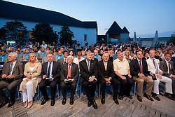 Milan Kucan, Danilo Tuerk, Janez Kocijancic, Emil Muri, Ziga Turk during presentation of Slovenian Olympic and Paralympic team for London 2012, on July 6, 2012 in Ljubljana's Castle, Ljubljana, Slovenia.  (Photo by Vid Ponikvar / Sportida.com)
