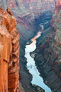 3,000 feet below the cliffs of Toroweap in Grand Canyon National Park is the Colorado River.