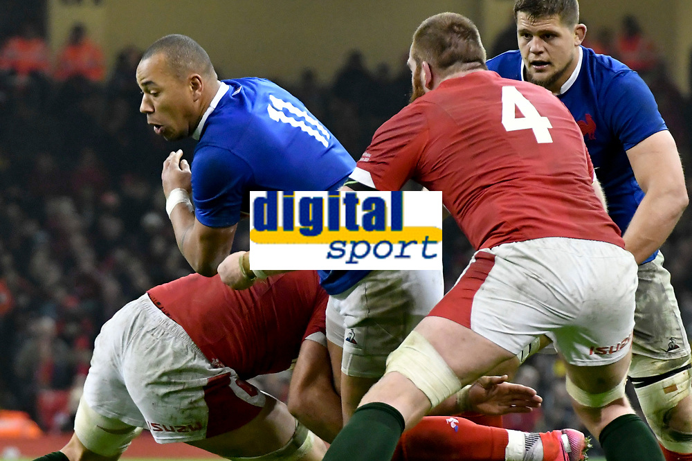 Football - 2020 Guinness Six Nations Championship - Wales vs. France<br /> <br /> Gael Fickou, of France tackled by Justin Tipuric, of Wales, at the Principality (Millennium) Stadium.<br /> <br /> COLORSPORT/WINSTON BYNORTH