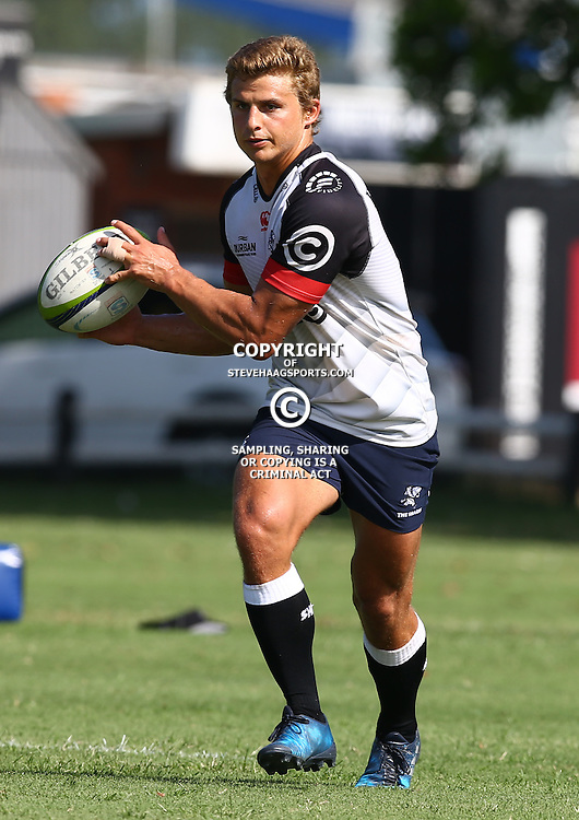 Patrick Lambie during The Cell C Sharks Pre Season training, session at Growthpoint Kings Park in Durban, South Africa. 16 February 2017(Photo by Steve Haag)<br /> <br /> images for social media must have consent from Steve Haag