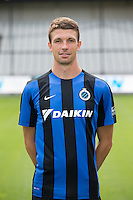 Club's Brandon Mechele poses for the photographer during the 2015-2016 season photo shoot of Belgian first league soccer team Club Brugge, Friday 17 July 2015 in Brugge