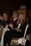 VISCOUNT WINDSOR; SIAN LLOYD;  An evening of entertainment at St James Court in support of the redevelopment of St Fagans National History Museum. In the spirit of the court of Llywelyn the Great . St. James Court Hotel. London. 17 September 2015<br />  <br /> Noson o adloniant yn St James Court i gefnogi ail-ddatblygiad Sain Ffagan Amgueddfa Werin Cymru
