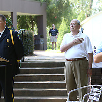 Detective Cassidy Jumper sang the National Anthem Saturday at Fan Appreciation day at Elvis Presley Birthplace
