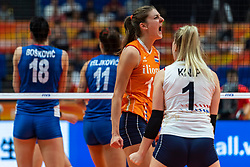 19-10-2018 JPN: Semi Final World Championship Volleyball Women day 20, Yokohama<br /> Serbia - Netherlands / Anne Buijs #11 of Netherlands