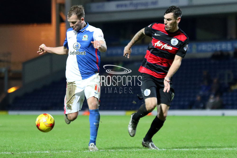 Blackburn Rovers Jordan Rhodes during the Sky Bet Championship match between Blackburn Rovers and Queens Park Rangers at Ewood Park, Blackburn, England on 12 January 2016. Photo by Pete Burns.