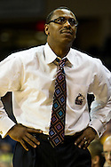 20 January 2010:  Northern Illinois head coach Ricardo Pattonduring the NCAA basketball game between Northern Illinois and the Toledo Rockets at Savage Arena in Toledo, OH.