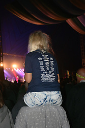 Latitude Festival, Henham Park, Suffolk, UK July 2019. Child wearing Latitude t-shirt
