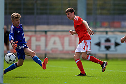 NEWPORT, WALES - Wednesday, July 25, 2018: Ruben Davies scores a goal during the Welsh Football Trust Cymru Cup 2018 at Dragon Park. (Pic by Paul Greenwood/Propaganda)