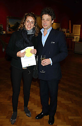 Artist EMMA SERGEANT and MR ADAM ZAMOYSKA at a private view and auction of a collection of paintings, drawings and doodles by well known personalities to mark the Book launch of Ackroyd's Ark in Christie's, 8 King Street, St.James's, London on 20th September 2004 in aid of Tusk Trust.<br /><br />NON EXCLUSIVE - WORLD RIGHTS