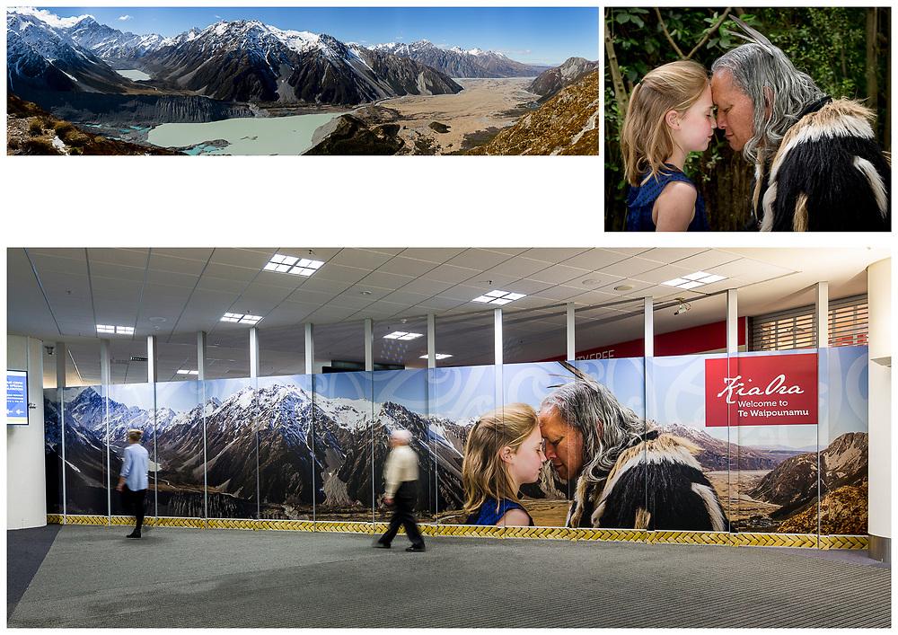 Christchurch International Airport - Welcome Mural