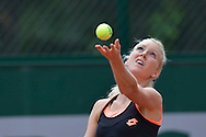 Urszula Radwanska from Poland competes in women's single round first while Day Third during Roland Garros 2014 at Roland Garros Tennis Club in Paris, France.<br /> <br /> France, Paris, May 27, 2014<br /> <br /> Picture also available in RAW (NEF) or TIFF format on special request.<br /> <br /> For editorial use only. Any commercial or promotional use requires permission.<br /> <br /> Mandatory credit:<br /> Photo by © Adam Nurkiewicz / Mediasport