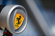 October 8, 2015: Russian GP 2015: Ferrari logo detail
